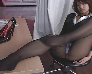 Sex Strumpfhosen Büro Asiatisch Büro Strumpfhose