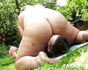 Frau fett nackt